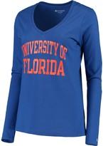 Champion Women's Royal Florida Gators University Long Sleeve V-Neck T-Shirt