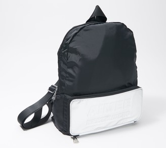 Aimee Kestenberg Nylon Packable Backpack with Leather Trim