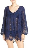 Nanette Lepore Women's 'Caraby' Crochet Cover-Up Tunic