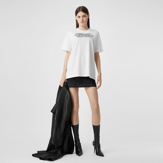 Burberry Location Print Cotton Overized T-hirt