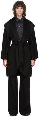 Max Mara Black Cashmere Galles Coat