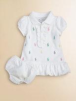 Ralph Lauren Infant's Schiffli Polo Dress & Bloomers Set