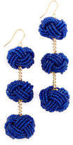 Vanessa Mooney Beaded Astrid Knot Earrings