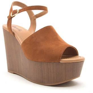 Qupid Womens Lovebird 16a Wedge Sandals