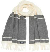Woolrich Women's Classic Double Wool Scarf Freeze Grey