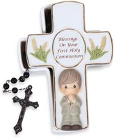 Bed Bath & Beyond Precious Moment® Blessings On Your First Holy Communion Boy Rosary Box With Rosary