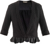 Nina Ricci Frill hem tweed jacket