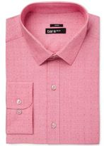 Bar III Men's Slim-Fit Stretch Easy Care Coral Dot Dobby Dress Shirt, Only at Macy's