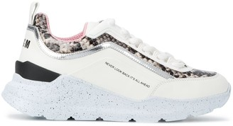 MSGM Snakeskin-Effect Detail Sneakers