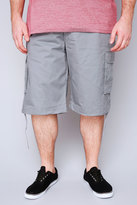 Yours Clothing NOIZ Grey Cotton Cargo Shorts With Pockets