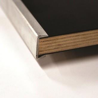 "Original Series 60"" Semi Circle Folding Table Maywood Furniture Edge: Channel Aluminum Edge (CAE), Frame Finish: Black"