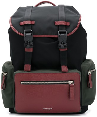 Giorgio Armani Colour-Block Backpack