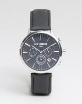 Ben Sherman WB028BA Chronograph Leather Watch In Black