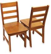 Lipper Child's Chairs in Pecan (Set of 2)