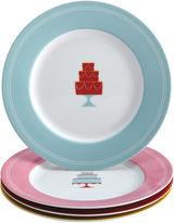 JCPenney CAKE BOSS Cake BossTM Set of 4 Porcelain Dessert Plates - Mini Cakes