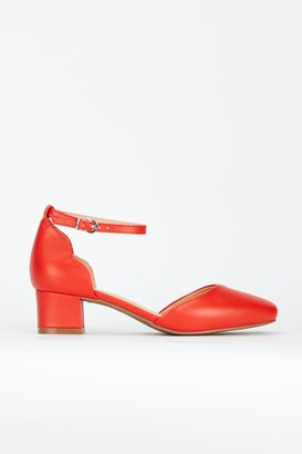 Wallis **Orange Ankle Strap Heel Shoe