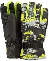 London Fog Boys' Camo-Print Gloves