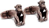 Paul Smith Monkey Burnished Brass Cufflinks