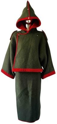 JC de CASTELBAJAC Khaki Wool Jacket for Women Vintage