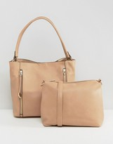 Oasis 2 Zip Hobo Shoulder Bag