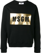 MSGM logo print sweatshirt - men - Cotton - XL