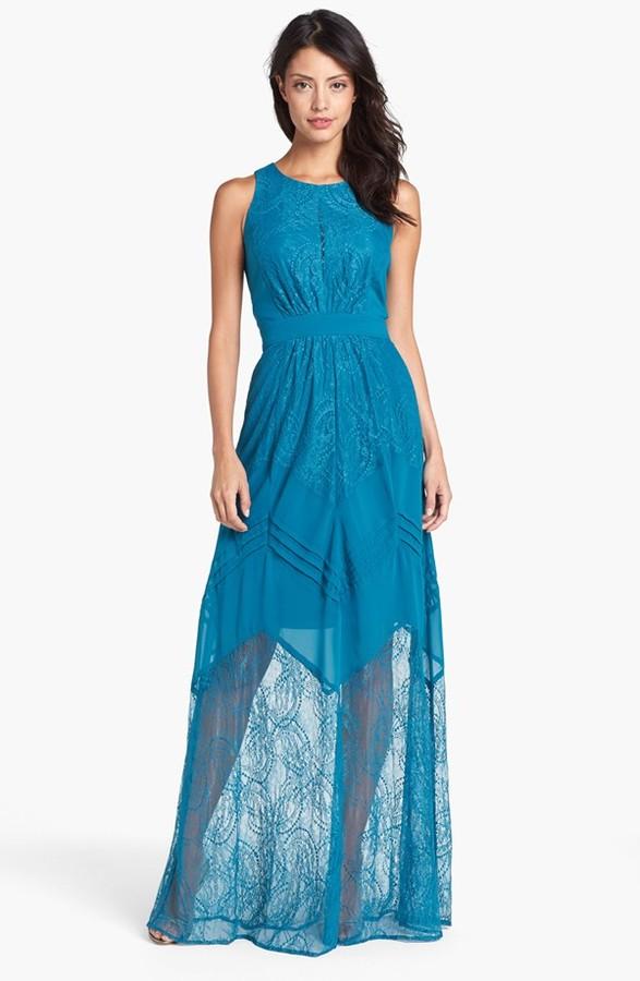 Jessica Simpson Mixed Media Dress