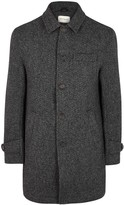 Oliver Spencer Grandpa's Charcoal Wool Coat