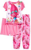 3-Pc. Dreamworks Trolls Pajama Set, Toddler Girls (2T-5T)