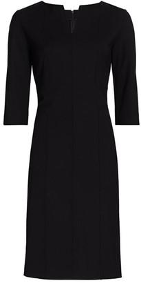 Piazza Sempione Stretch-Wool Three-Quarter Length Sheath Dress