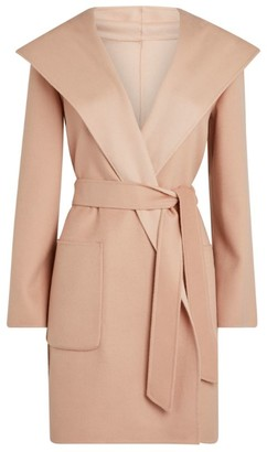 Max Mara Hooded Wool Lembo Coat