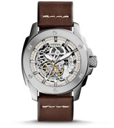 Fossil Modern Machine Automatic Brown Leather Watch
