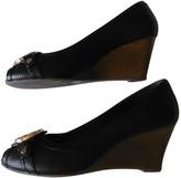 Tory Burch Black Leather Heels