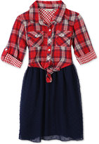 Speechless Plaid Fit and Flare Dress, Toddler and Little Girls (2T-6X)