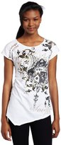 Southpole Juniors Handkerchief Hem Fashion Tee
