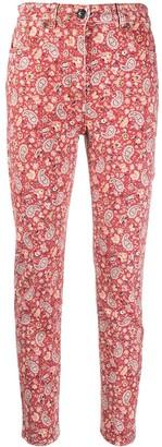 Etro Skinny Paisley-Print Jeans
