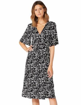 Amazon Brand - TRUTH & FABLE Women's Midi Jersey A-Line Dress