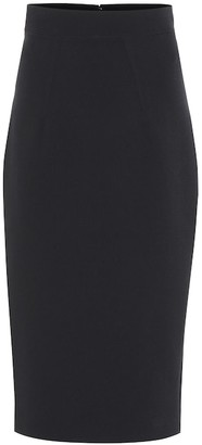 Safiyaa Hokoku crepe pencil skirt