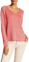 Eileen Fisher V-Neck Boxy Linen Sweater