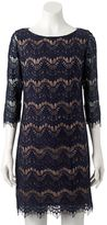 Jessica Howard Women's Fringe Lace Shift Dress