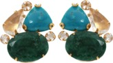 Bounkit JEWELRY Turquoise And Emerald Cluster Earrings