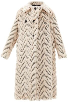 Stella McCartney Kira Double-breasted Faux-fur Coat - Cream