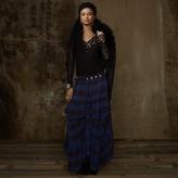 Denim & Supply Plaid Tie-Up Gypsy Skirt