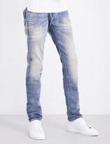 Diesel Thommer 0845F slim-fit straight stretch-cotton jeans