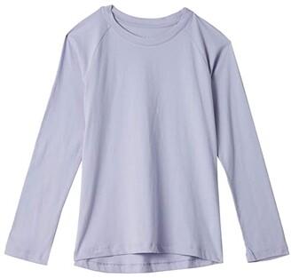 #4kids Essential High-Low Long Sleeve T-Shirt (Little Kids/Big Kids) (White) Girl's Clothing