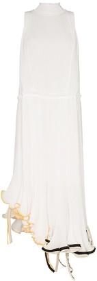 Loewe Jellyfish curled-hem plisse dress