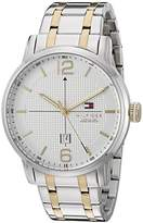 Tommy Hilfiger Men's 1791214 George Analog Display Japanese Quartz Silver Watch