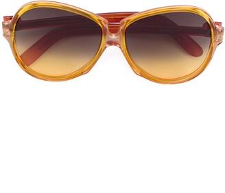 Yves Saint Laurent Pre Owned Ombre Oversized Sunglasses