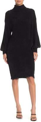 Laundry by Shelli Segal Fuzzy Wuzzy Long Sleeve Sweater Dress