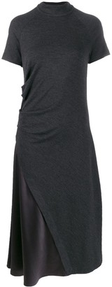 Brunello Cucinelli Satin-Panelled Dress