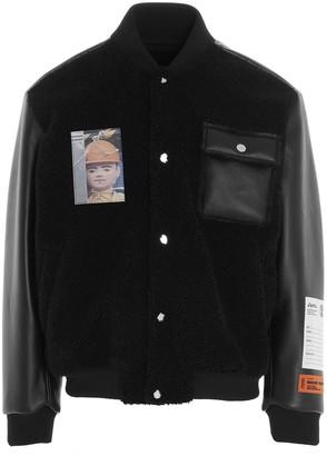 Heron Preston Contrast Panel Bomber Jacket